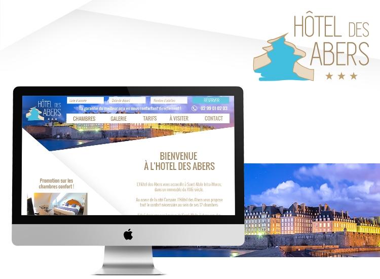 3b3d996377a HÔTEL DES ABERS     - création du site web